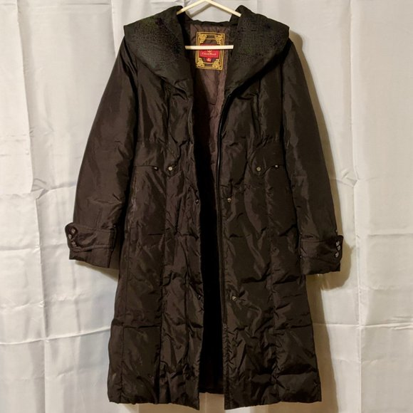 Cole Haan Long Down Puffer Coat (Black)